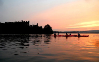 kayak hudson bannerman sunset
